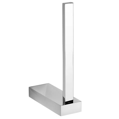 Modern Bathroom Accessories Uk by Spare Toilet Roll Holder Chrome Wall Mounted
