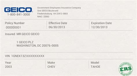 geico car insurance card template insurance cards templates resume builder