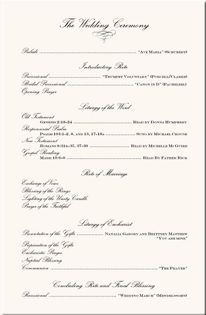 Wedding Ceremony Details by Image Detail For Wedding Program Exles Wedding Program