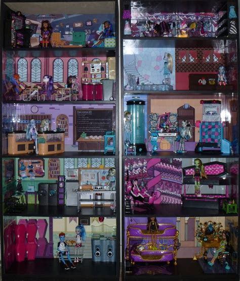 monster high dolls house for sale monster high doll house monster high dead tired bedroom bookcase kit w abbey s room
