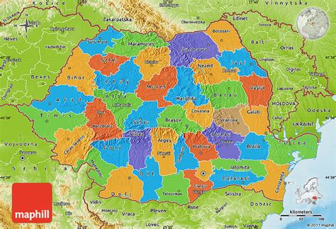 political map of romania political map of romania physical outside