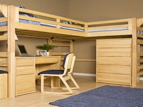 Diy Loft Bed With Desk Diy Loft Bed With Desk Home Garden