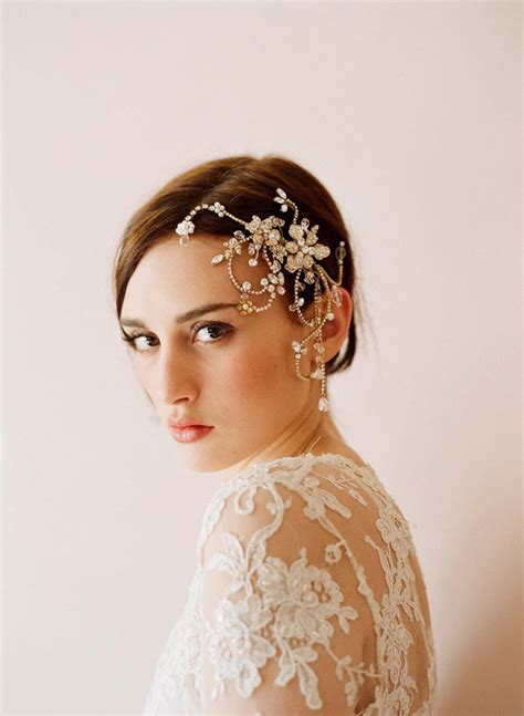 Wedding Hair Accessories In Gold by Gold Hair Accessories