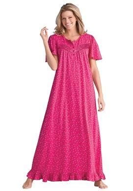 cotton knit nightgowns plus size s plus size cotton knit gown
