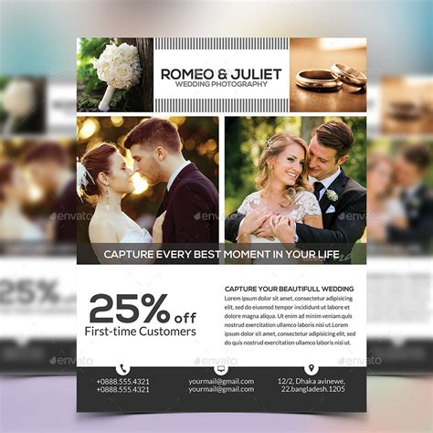 wedding flyer wedding photography flyer by elite designer graphicriver
