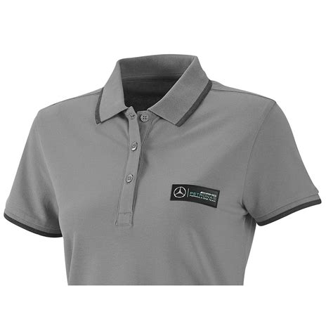 Polo Shirt Marcedes 3 mercedes amg f1 team classic polo shirt grey clothing polo shirts shop by team