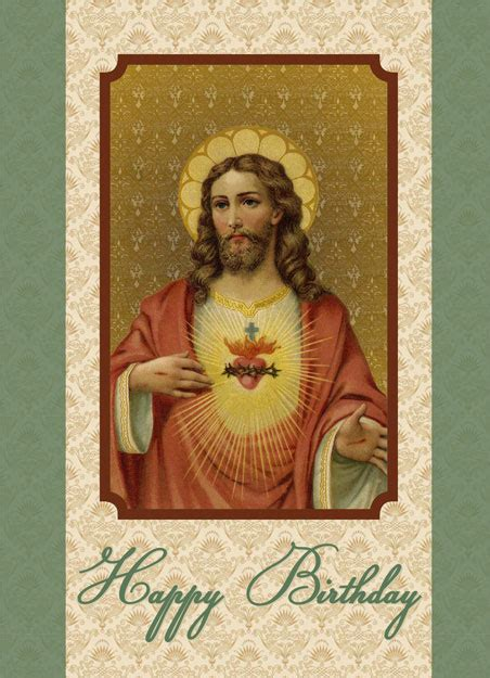 Birthday Cards For Catholic Priests Sacred Heart Of Jesus Happy Birthday Card Gt Greeting Cards