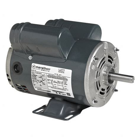 marathon motors 3 hp air compressor motor capacitor start run 3450 nameplate rpm 230 voltage
