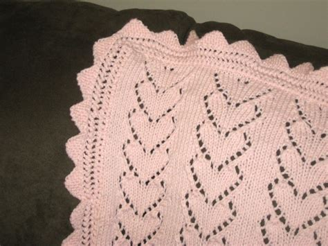 heart pattern baby blanket the spicy knitter fo hearts baby blanket