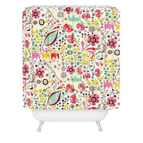 color ginda floral print showeer curtain by rebekah ginda design for