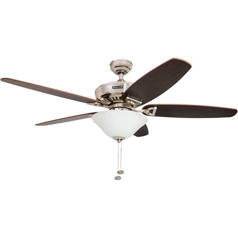 honeywell belmar ceiling fan brushed nickel finish 52