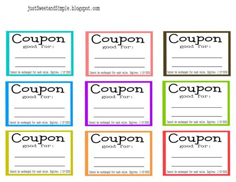 coupon template word template business