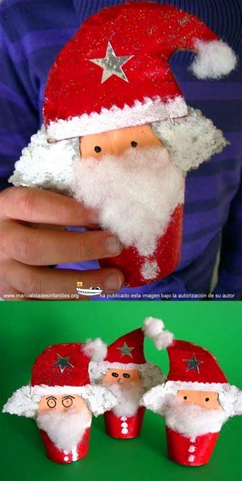 imagenes de santa claus reciclado santa claus con rollos de papel higi 233 nico manualidades