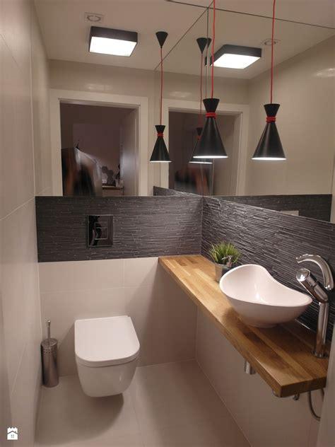 design wc jesienna mała łazienka w bloku bez okna styl