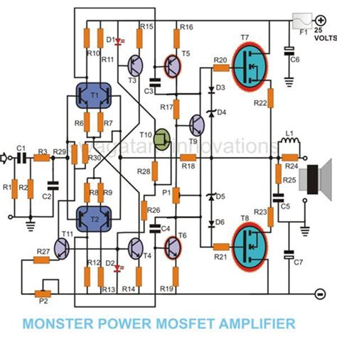 mosfet transistor audio lifier how to build a 100 watt mosfet lifier circuit simple design explored
