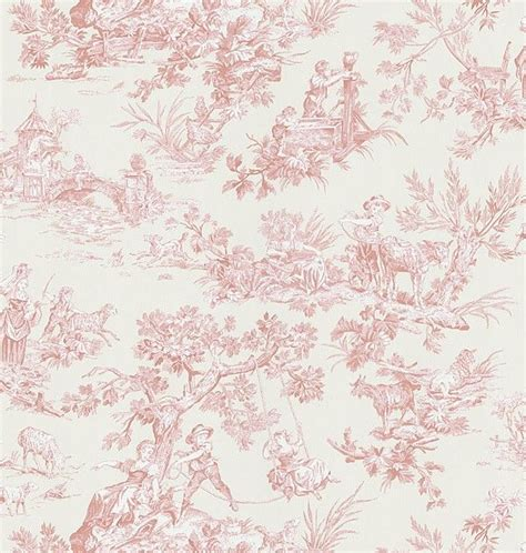 toile wallpaper pinterest pink toile wallpaper 14945701 redecorating my room