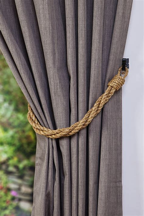 rustic curtain tie backs manila rope rustic thick twist curtain tiebacks nautical