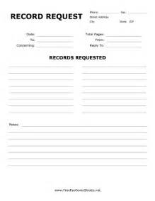 record request fax cover sheet at freefaxcoversheets net