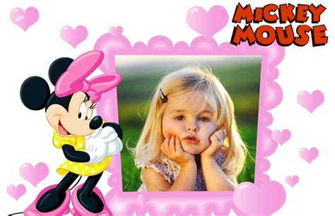 decorar fotos de bebes gratis marco infantil de minnie marcos para fotos gratis