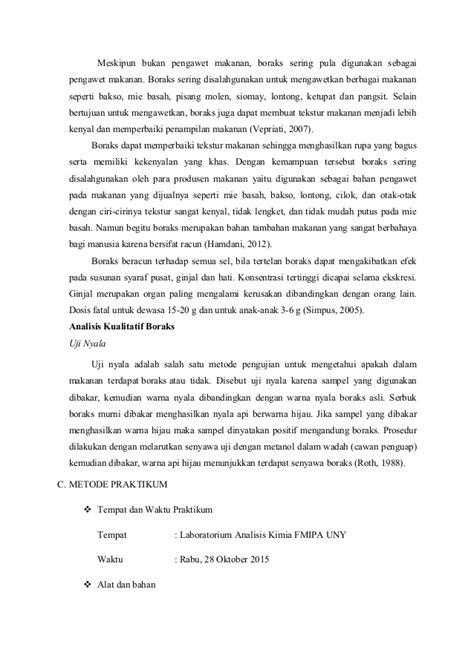 Asam Borat 3 laporan 1 uji boraks pada sel bahan pangan