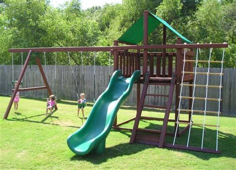 homemade swing set plans diy swing set swing set plans playset junction wooden