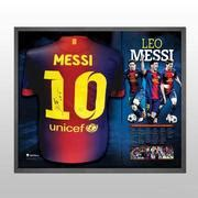 Kaos Maradona And Messi Football Artwork lionel messi signed and framed limited edition shirt
