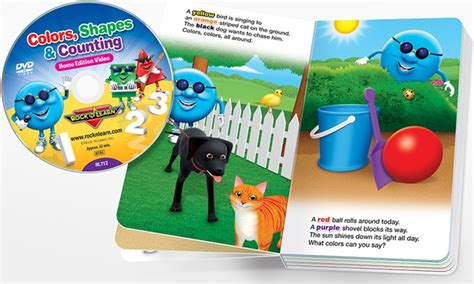 colors shapes and counting up to 71 on rock n learn board book dvd set