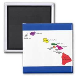 hawaiian island colors hawaiian islands color of their islands fridge magnets