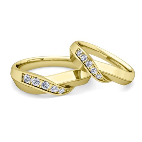 gold wedding rings sets for him and wedding promise