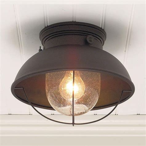 Copper Kitchen Light Fixtures Nantucket Ceiling Light Available In 3 Colors Antique Copper Matte Black Brushed Stainless
