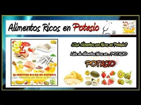 alimentos con alto contenido de potasio lista de alimentos ricos en potasio frutas con potasio