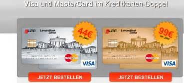 landesbank berlin kreditkarte landesbank berlin lbb goldkarten doppel
