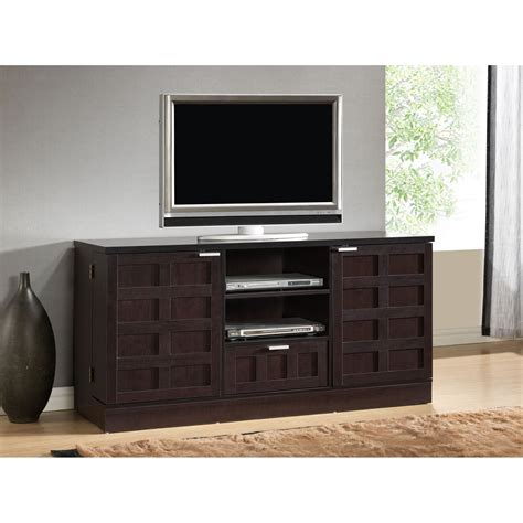 Tv Cabinets With Doors For Flat Screens Rectangle Black Brown Wooden Cabinet With Wooden Door Rectangle Flat Screen Tv On Ceramics