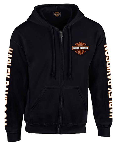 Sweater Hodie Harley Davidson 3 harley davidson s hooded sweatshirt bar shield zip black hoodie 30299142