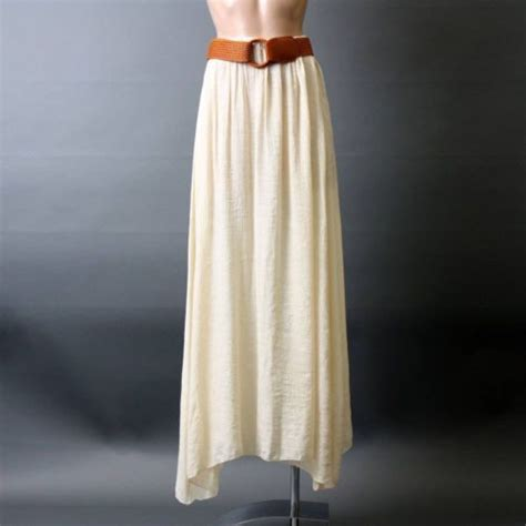white casual sheer belted flowy bohemian length