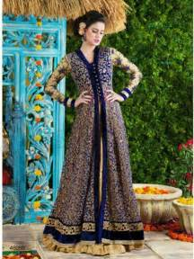 in suite designs fashion fok anarkali net gown style frock suits