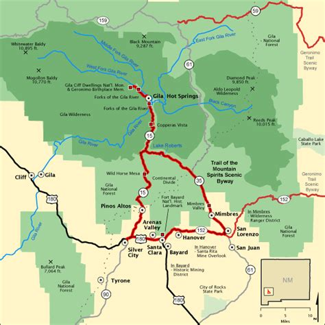 americas byways trail of the mountain spirits scenic byway map america