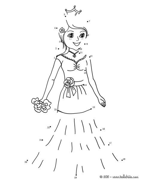 printable connect the dot games princess dot to dot game coloring pages hellokids com