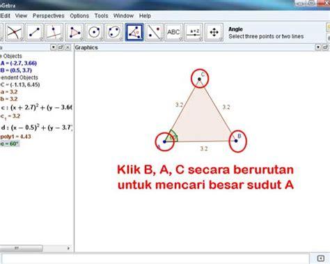 tutorial membuat dasi segitiga geogebra tutorial cara membuat segitiga sama sisi