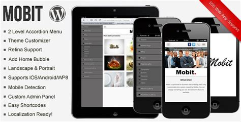 Mobile Themes Themeforest | mobit themeforest premium wordpress mobile theme