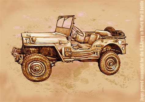 modern army jeep us army jeep in world war 2 stylised modern drawing art