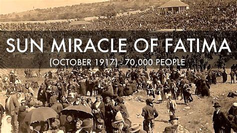 The Miracle Of Fatima Miracle Of The Sun In Fatima District Of The Usa