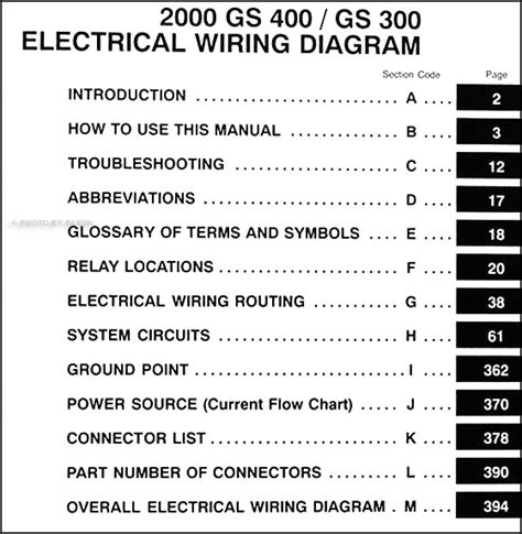 2000 lexus gs 300 400 wiring diagram manual original