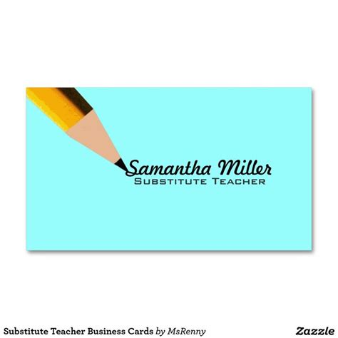 business cards for teachers templates free substitute business cards pinteres