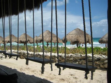 playa del carmen bar with swings swing bar beach picture of valentin imperial maya