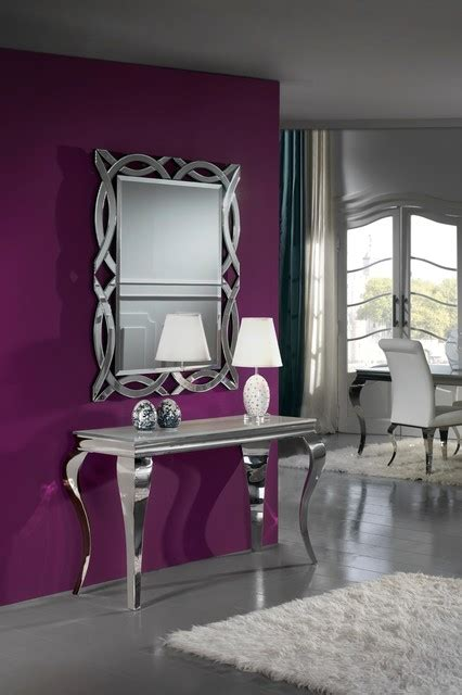 iconic modern french console table and mirror set modern