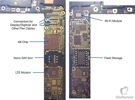 iphone board layout bare iphone 6 logic board surfaces claimed to sup 为程序员服务