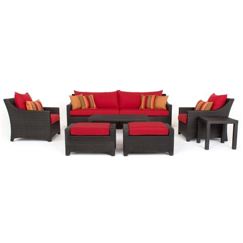 rst brands deco 8 all weather wicker patio sofa and