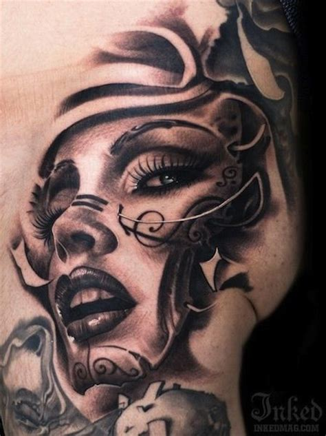 lady face tattoo designs best 25 ideas on