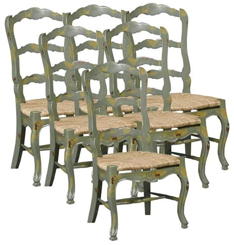 french country dining bench set 6 new french country dining chairs distressed green